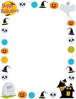halloween border templates