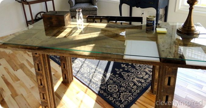 Rustic Barn Door Desk Imagine With A White Distressed Wash