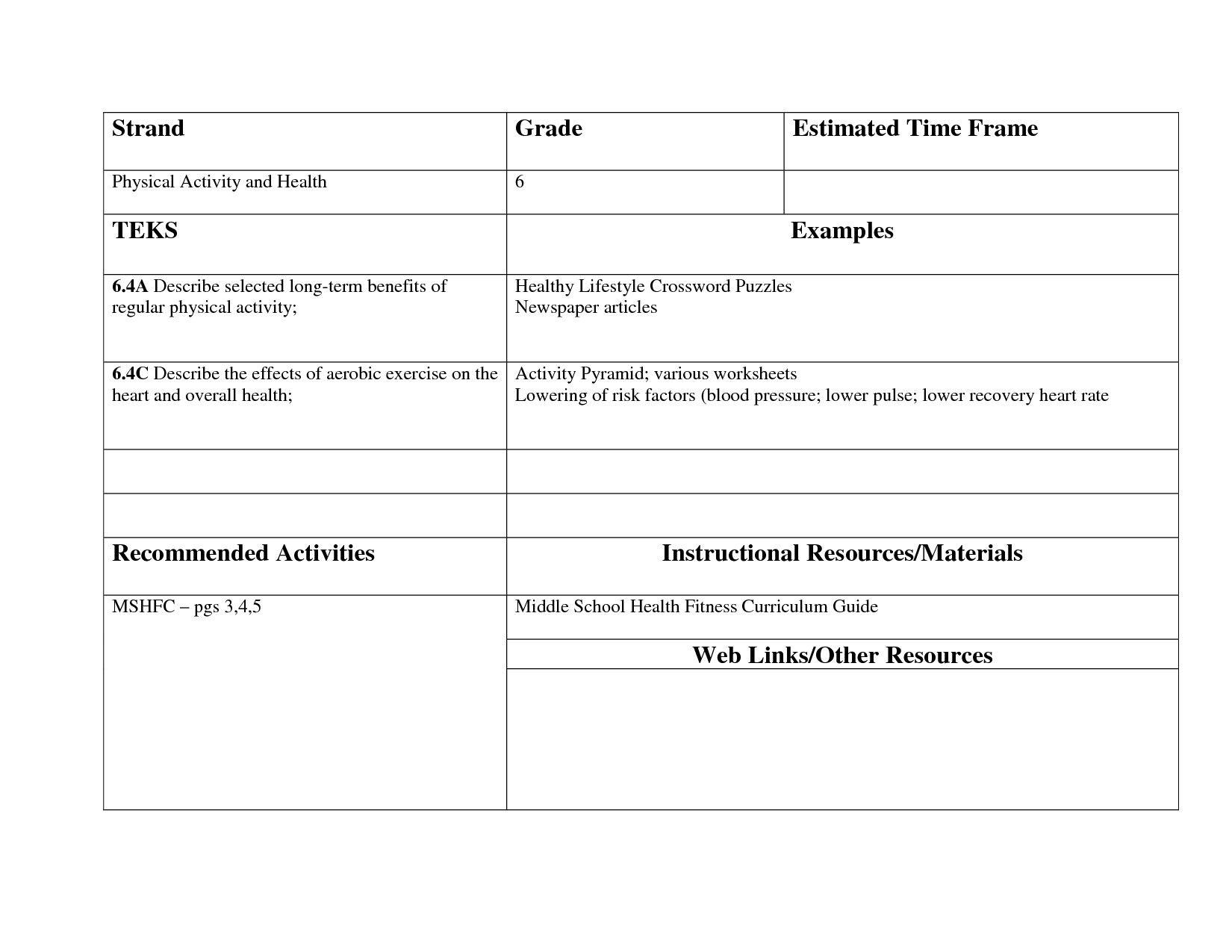 10 Academic Healthy Habits Worksheets Di