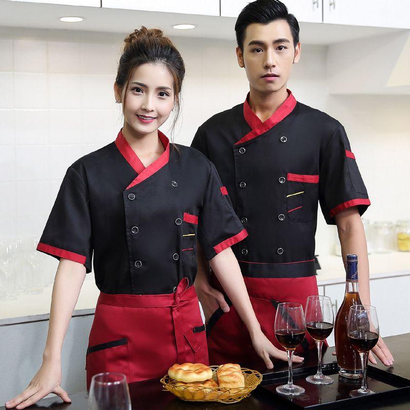 New Design Chef Jacket Food Service Short Sleeved Summer Hotel Chef ...