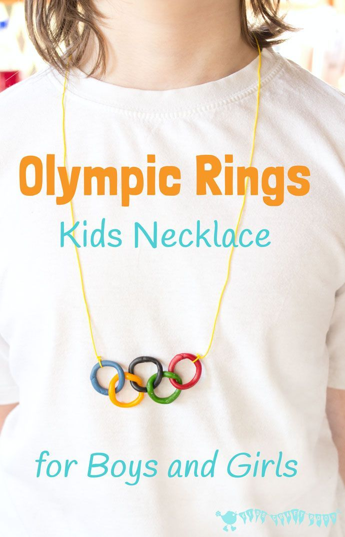 Olympic Craft Kids Necklace Olympic Crafts Kids Craft Room Kids Necklace