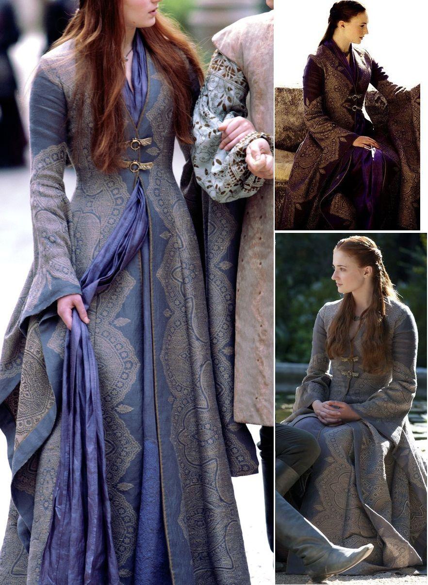 Ladies Medieval Princess Game Of Thrones Sansa Style Fancy Dress Costume Wig