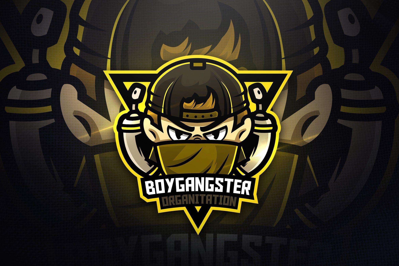 Boygangster Mascot Logo Logo keren, Desain logo, Seni