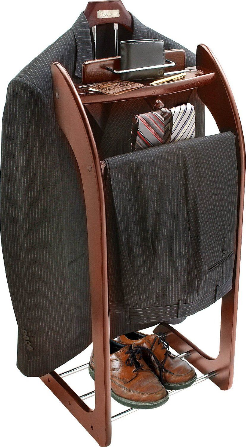 Mens Suit Valet Amazoncom Smartek Usa Hardwood Clothes Valet Stand Home