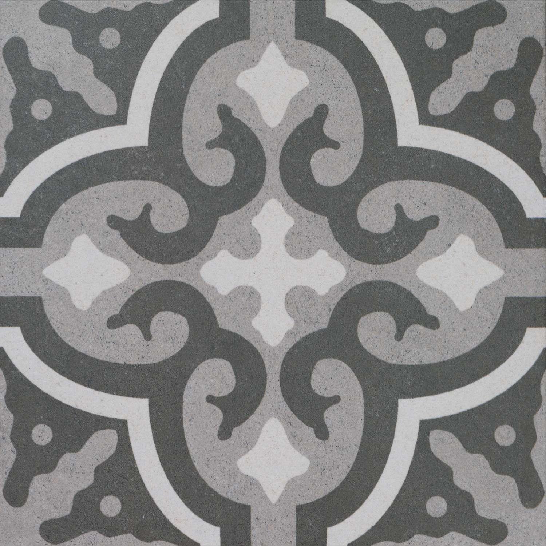 Graue Patchwork Fliesen Bodenfliese Vintage Mix X Günstig - Muster fliesen kaufen