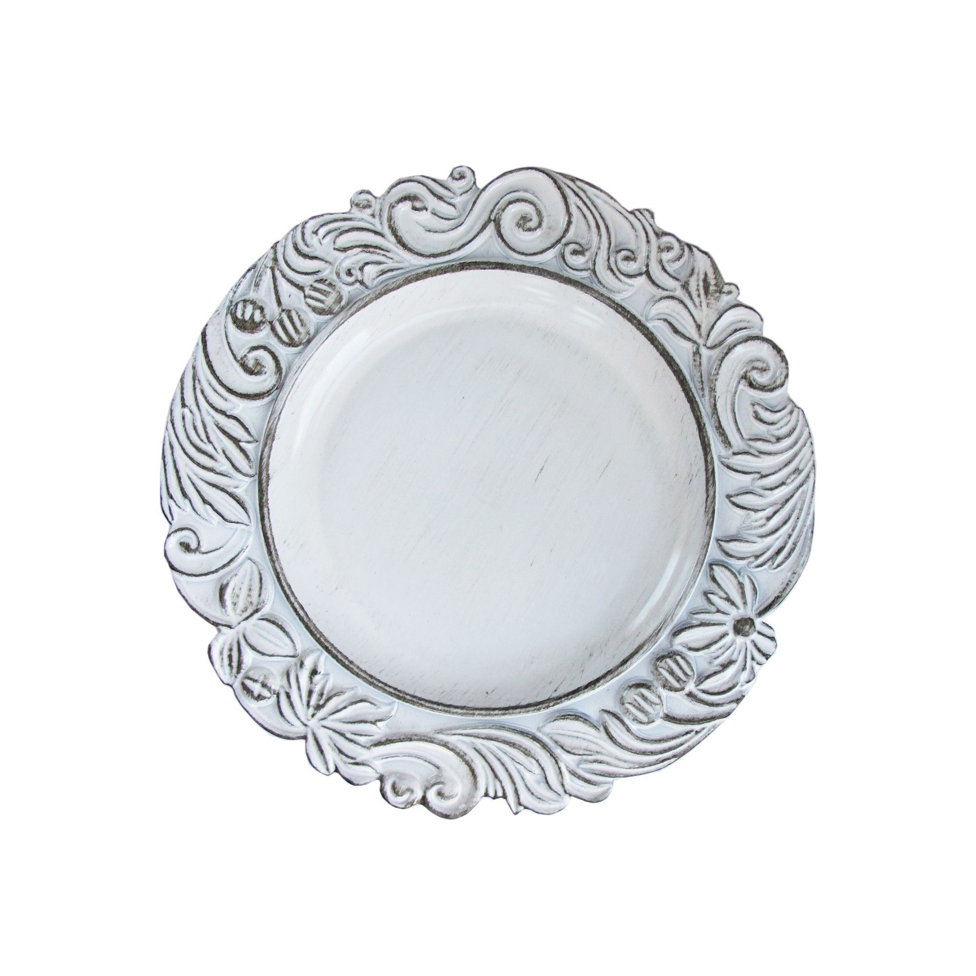 By Jay Aristocratic White Antique 14-inch Charger Plate (Aristocratic White Antique  sc 1 st  Pinterest & ChargeIt! By Jay Aristocratic White Antique 14-inch Charger Plate ...