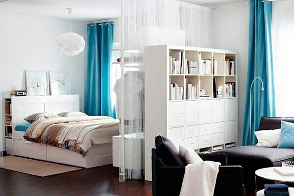 Lösung für eine 1Zimmer Wohnung Raumtrenner Raumtrennung - raumteiler schlafzimmer ideen