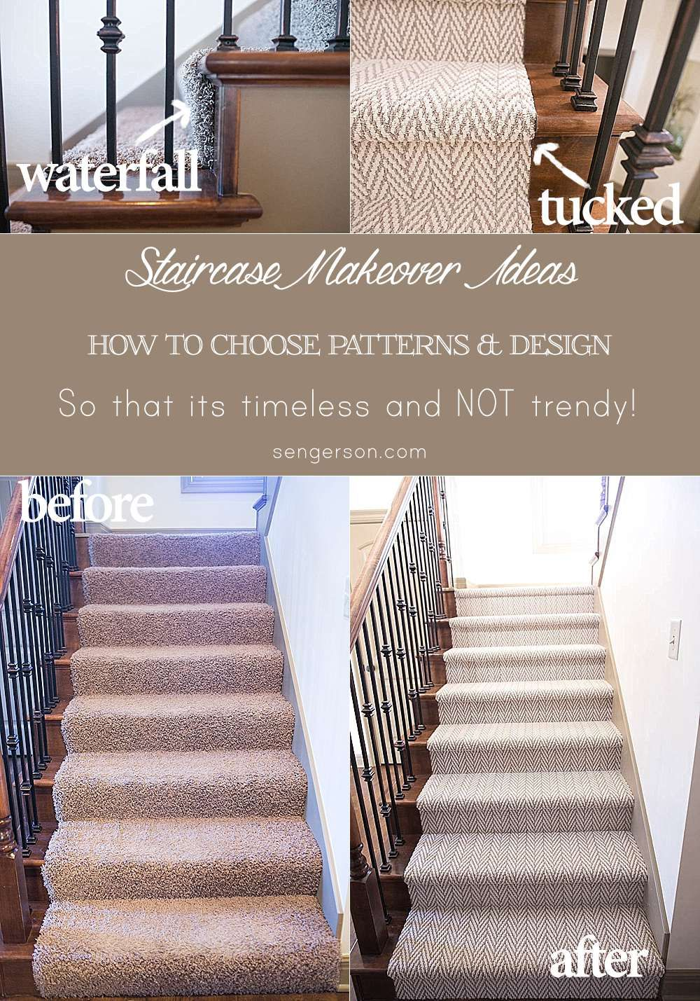 3 Tips On Renovating A Staircase From Choice Patterns Waterfall Versus Tucked Hollywood Style And Reasons To Consider Doing It Yourself Diy So
