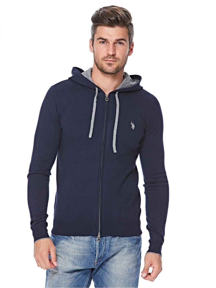 U.S. Polo Assn. Zip Up Hoodie for Men Navy Blue