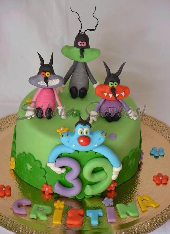 Torta Compleanno Oggy E I Maledetti Scarafaggi.Torte Oggy E I Maledetti Scarafaggi Kindertaarten Eten
