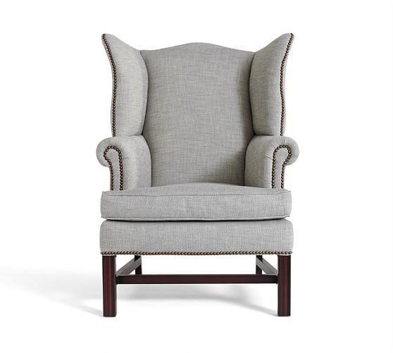 herringbone wingback chair google search