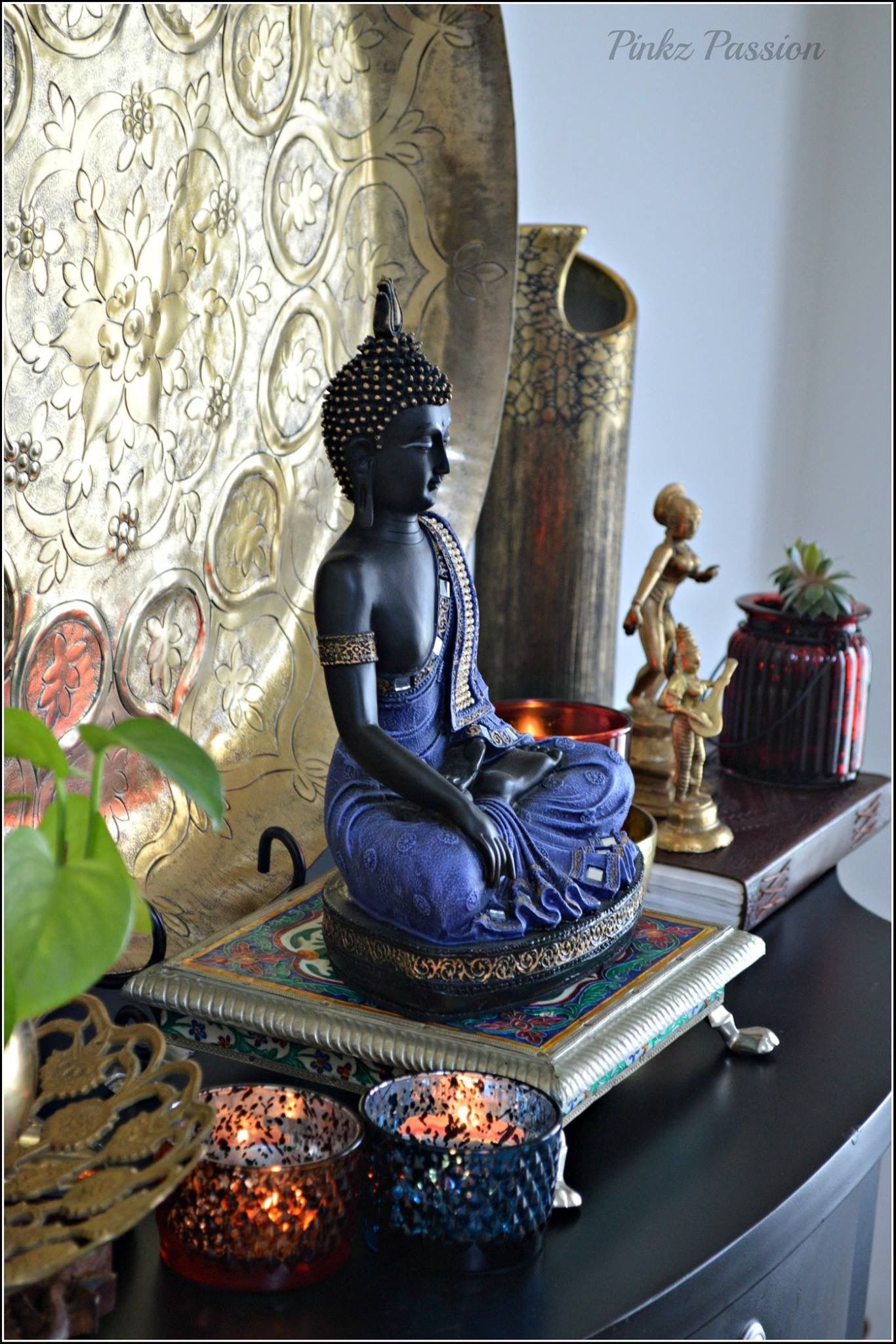 Decoration Asiatique Maison Buddha Decor Zen Corner Brass Artifacts Buddha Buddha