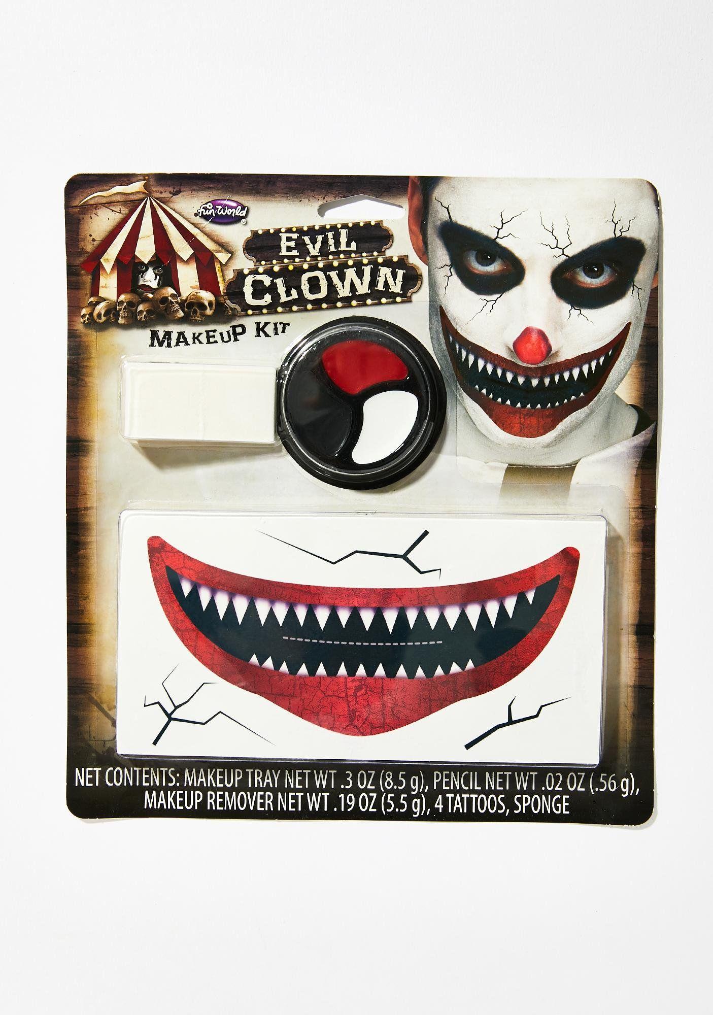 Halloween Evil Red Clown Makeup Kit Dolls Kill Makeup