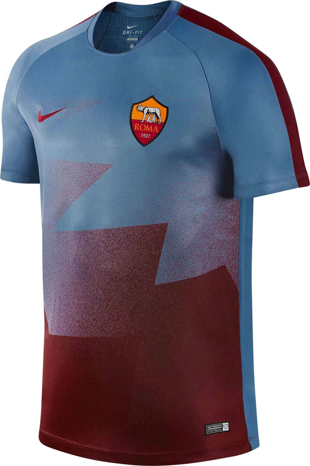 e1a7f23d5 The new AS Roma 2016 Pre-Match and Training Shirts introduce an  unprecedented look for the Italian team, combining blue with dark red.