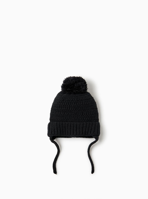 Image 1 Of Basic Pompom Hat From Zara Baby Boy Accessories Pom Pom Hat Cute Baby Clothes