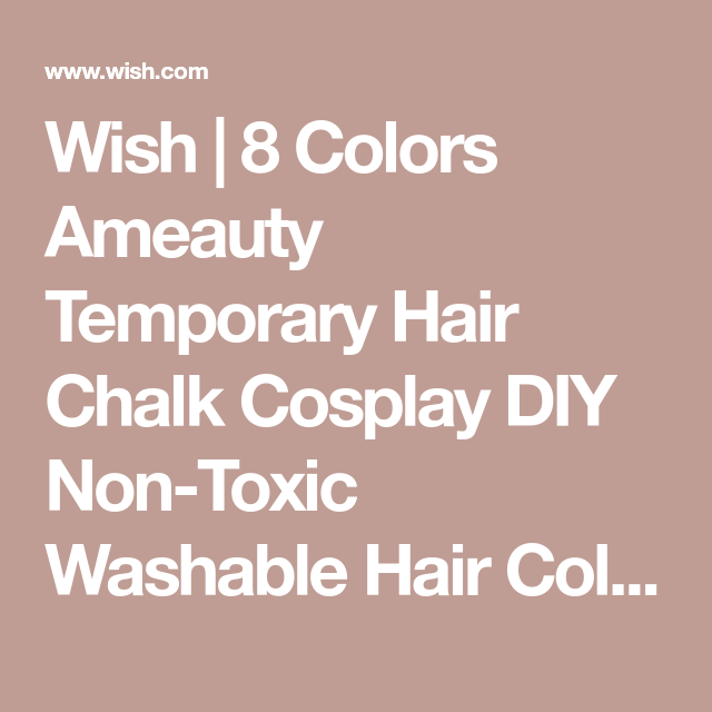 8 Colors Ameauty Temporary Hair Chalk Cosplay DIY Non Toxic Washable Hair Color Comb for Party Makeup   Wish Gallery