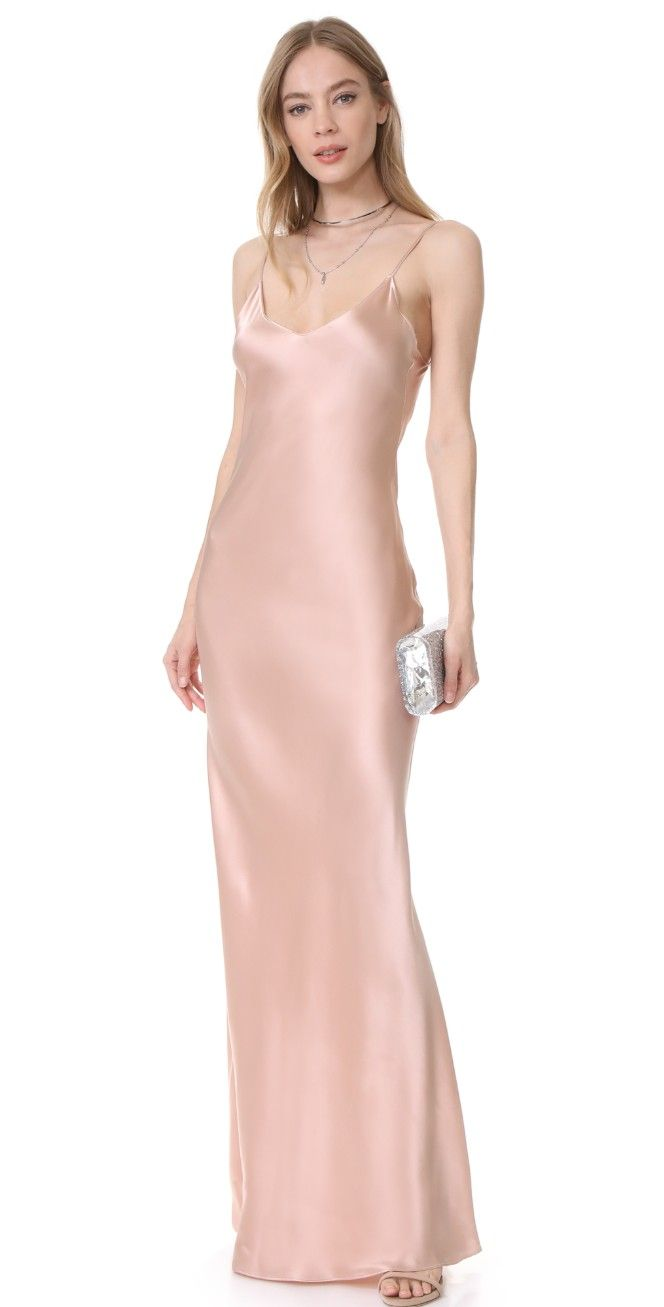 Slip dress satin silk gown and gowns