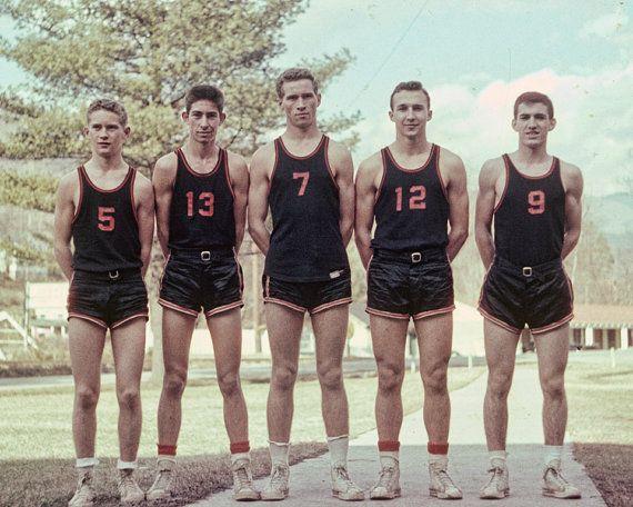 1950s Boys Basketball Team Vintage Photo From Original Negative