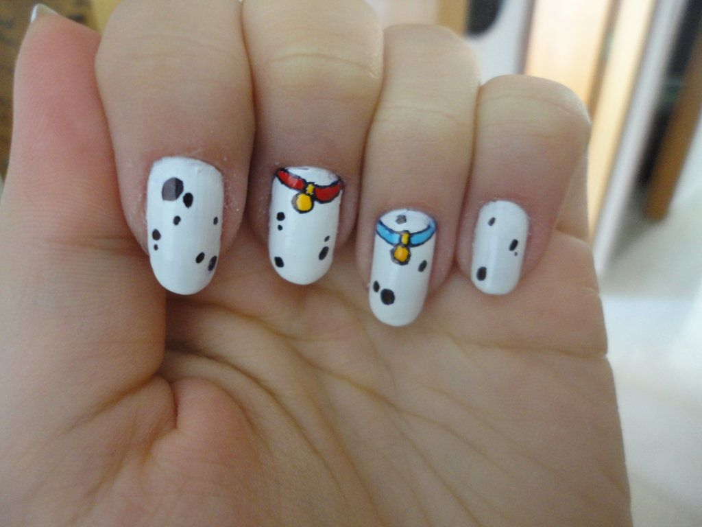 101 dalmatians nails by MichiyoFox | Accessorize My Hands! (nail art ...