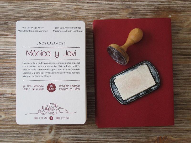 Invitaciones de boda originales y sencillas el taller de las cosas - invitaciones para boda originales