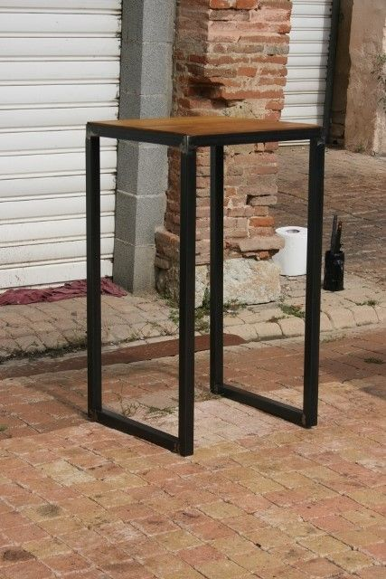 table bistro mange debout meuble industriel