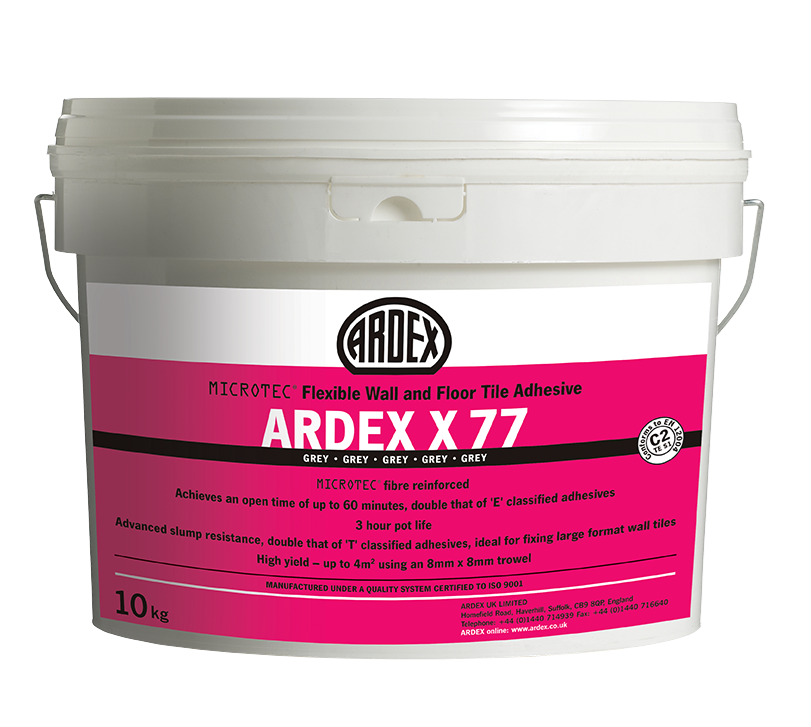 Ardex X77 White 10kg Microtec Wall Tile Adhesive Adhesive Tiles Wall And Floor Tiles