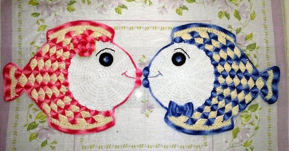 CROCHÊ MOLDES MARA: PEIXE DE CROCHE | Para ver amar e copiar ...