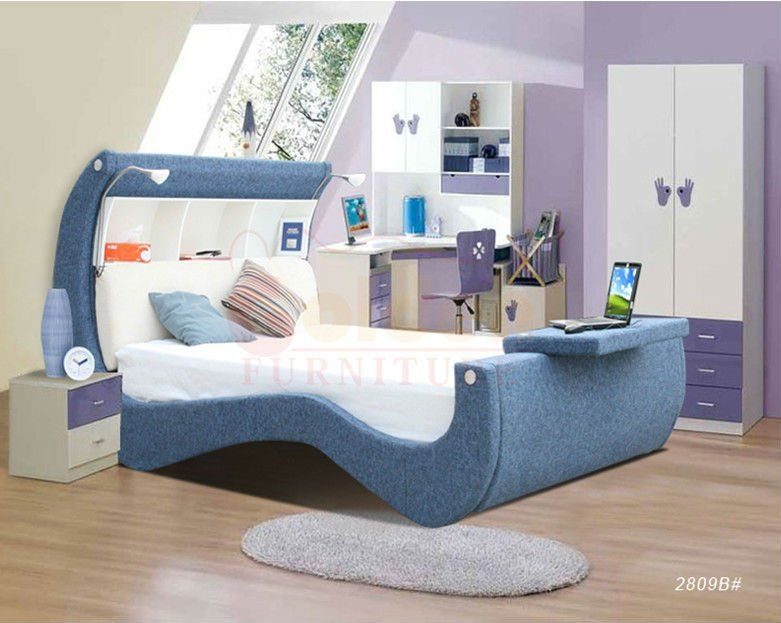 Lovely Kids Cheap Princess Style Unique Sweet Bed O2809A#