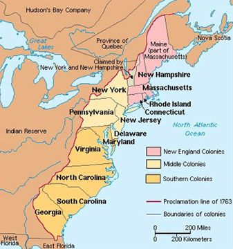 French Canada Thirteen Colonies Map Contact & Conflict: First Nations, French, & English in Canada