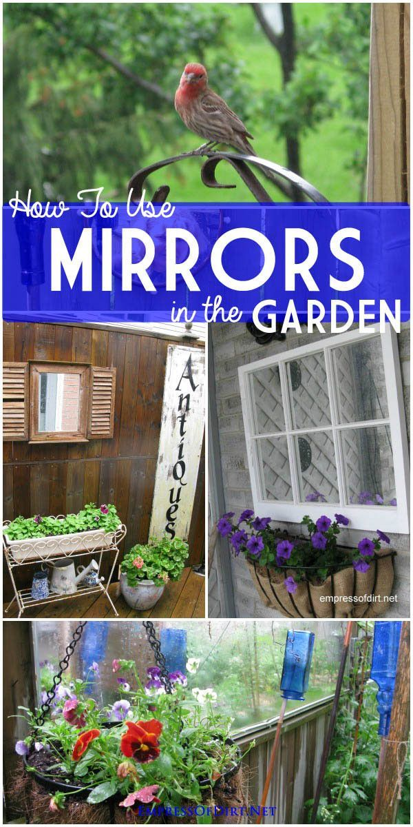 How to use Mirrors in the Garden Gardens Creative and Backyard