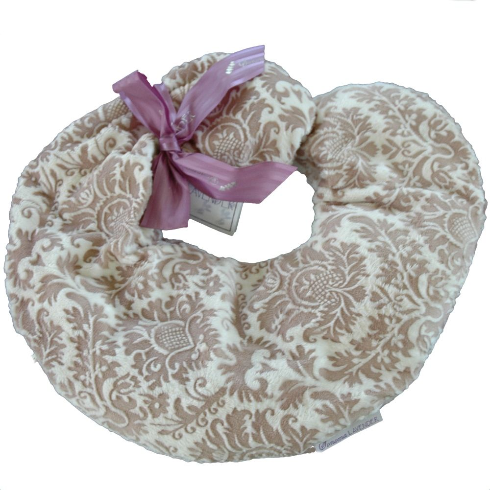 Taupe Damask Spa Neck Pillow From Sonoma Lavender You Can Microwave