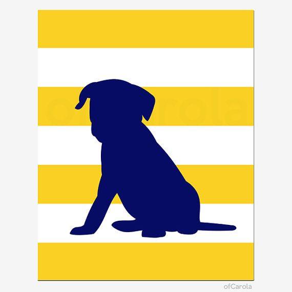 PERSONALIZED Dog Puppy Nursery Wall Art Print Baby by ofCarola ...