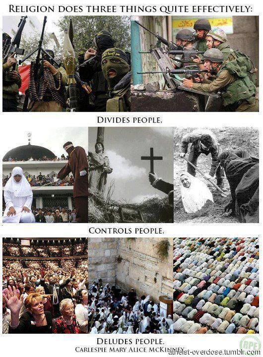 Religion does three things effectively