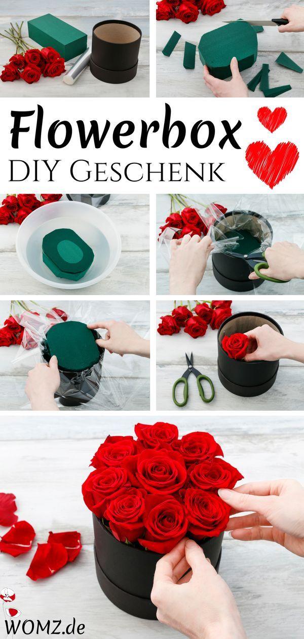 flowerbox selber machen perfektes diy geschenk flower arrangement geschenke diy geschenke. Black Bedroom Furniture Sets. Home Design Ideas