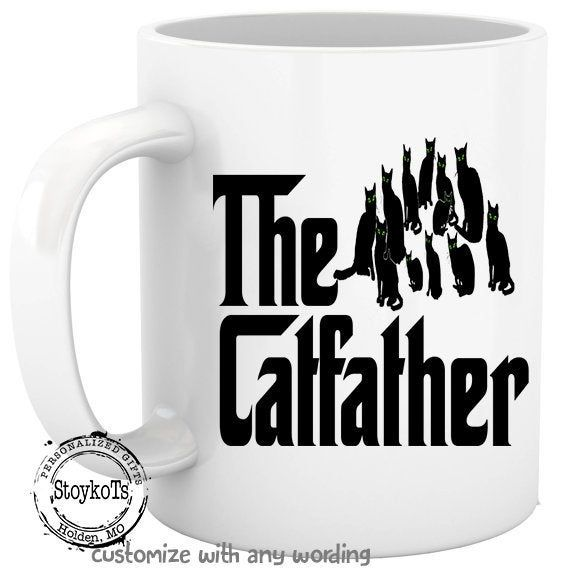 The Catfather, gift for cat lover, father, dad, Christmas ...