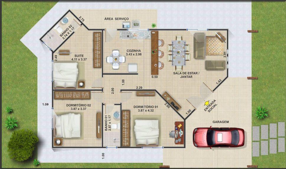 Planos de cabañas y casas de campo pequeñas, ideas para construcción