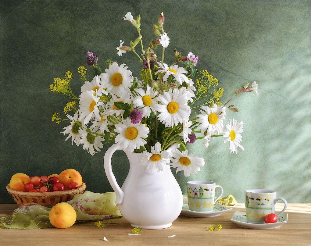 Июльские открытки с добрым утром и цветами, вероники