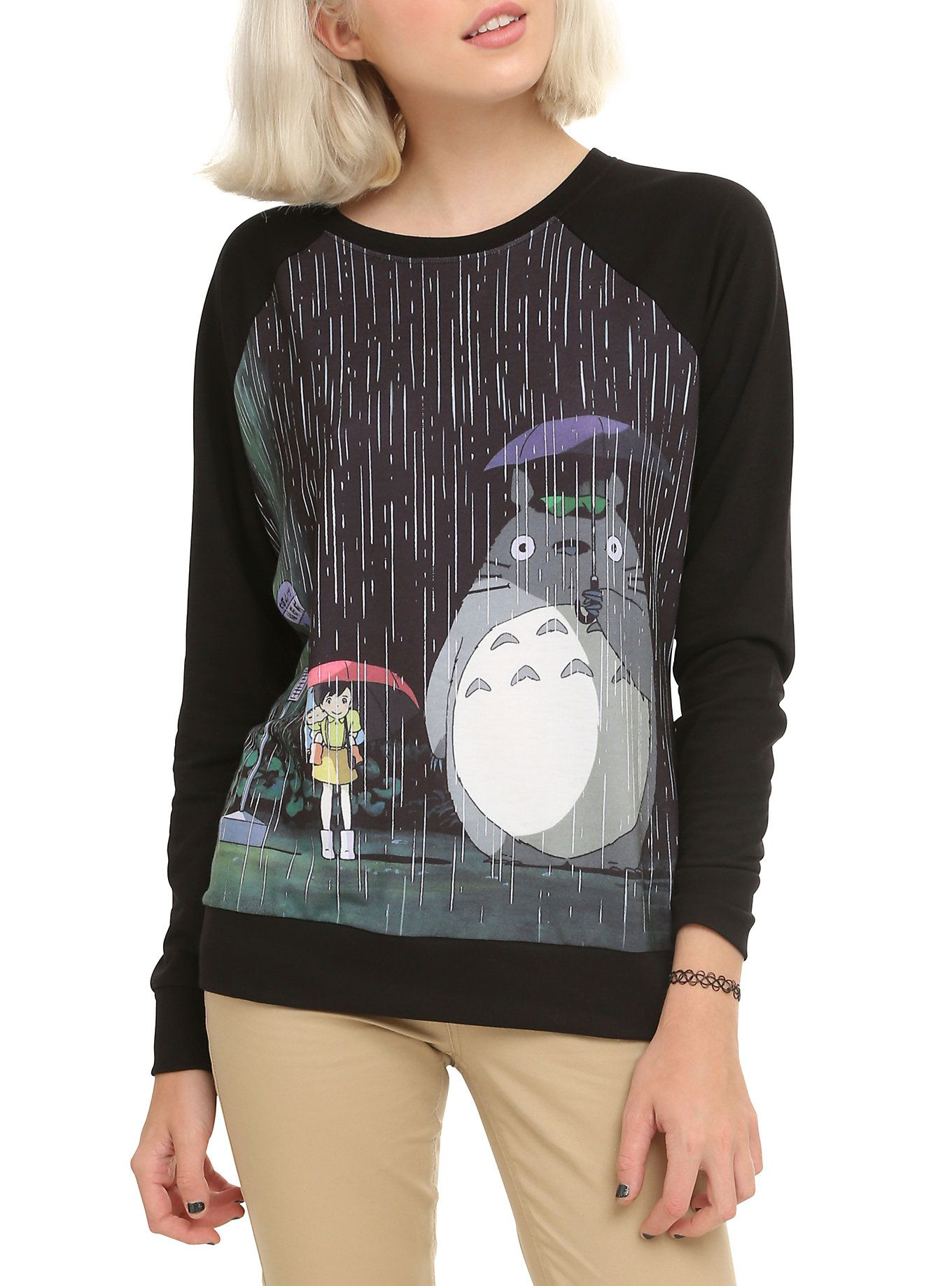 Studio Ghibli Her Universe My Neighbor Totoro At The Bus Stop Girls Pullover Top Hot Topic Clothes Girls Pullovers Studio Ghibli [ 1836 x 1360 Pixel ]