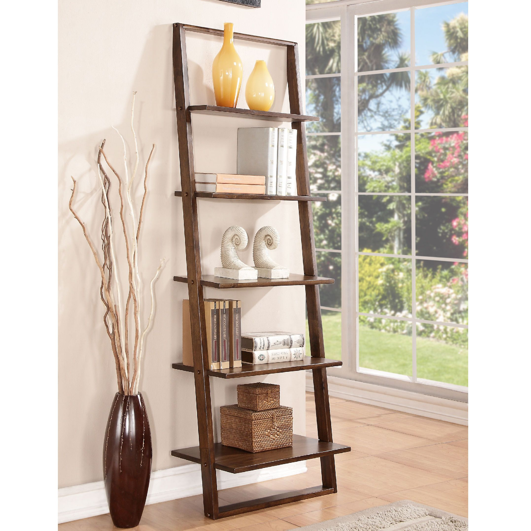 found it at wayfair lean living leaning bookcase smoky driftwood or brownstone