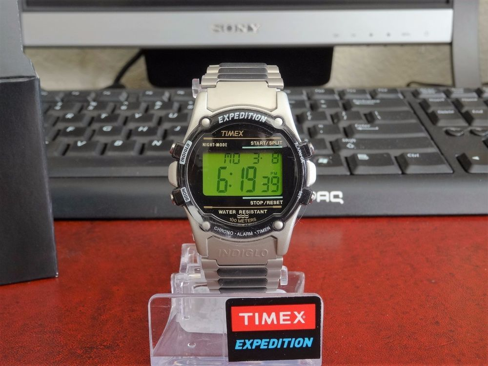 527999f8613 New Timex Atlantis Expedition 100m Water Resistant Indiglo Watch w  Box    Manual  Timex  Outdoor