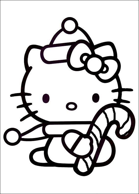 candy cane (с изображениями) | Hello kitty искусство ...