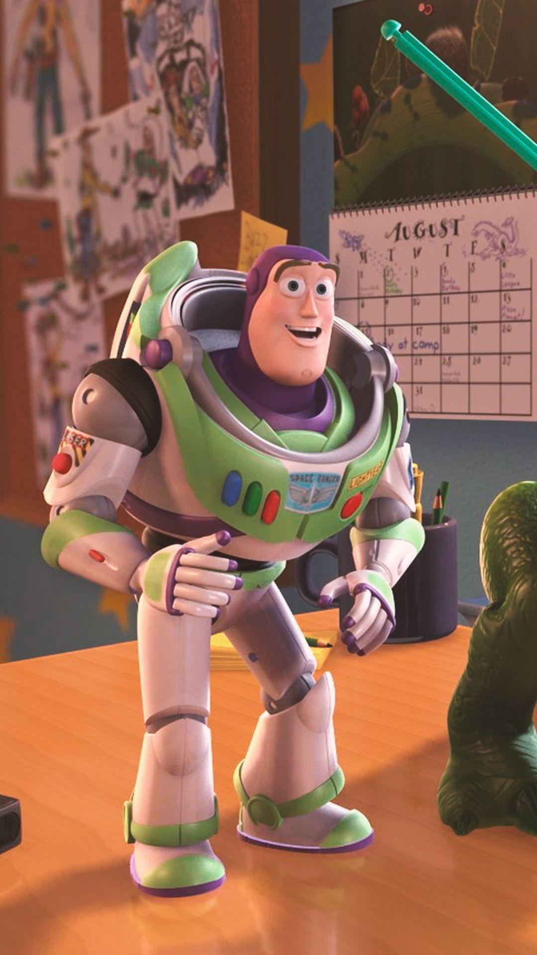Wallpapers Lockscreen Pixar Disney Papel De Parede Toy Story Buzz Woody Rex Dinossaur Animasi Latar Belakang