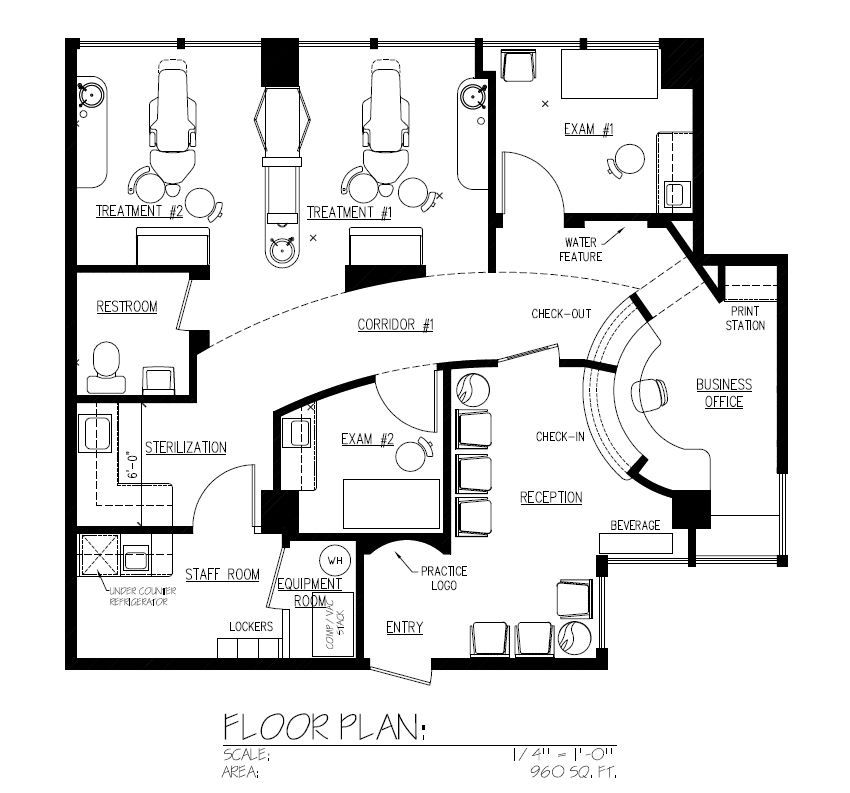 Dental Office Floor Plan Design on small hair salon floor plans