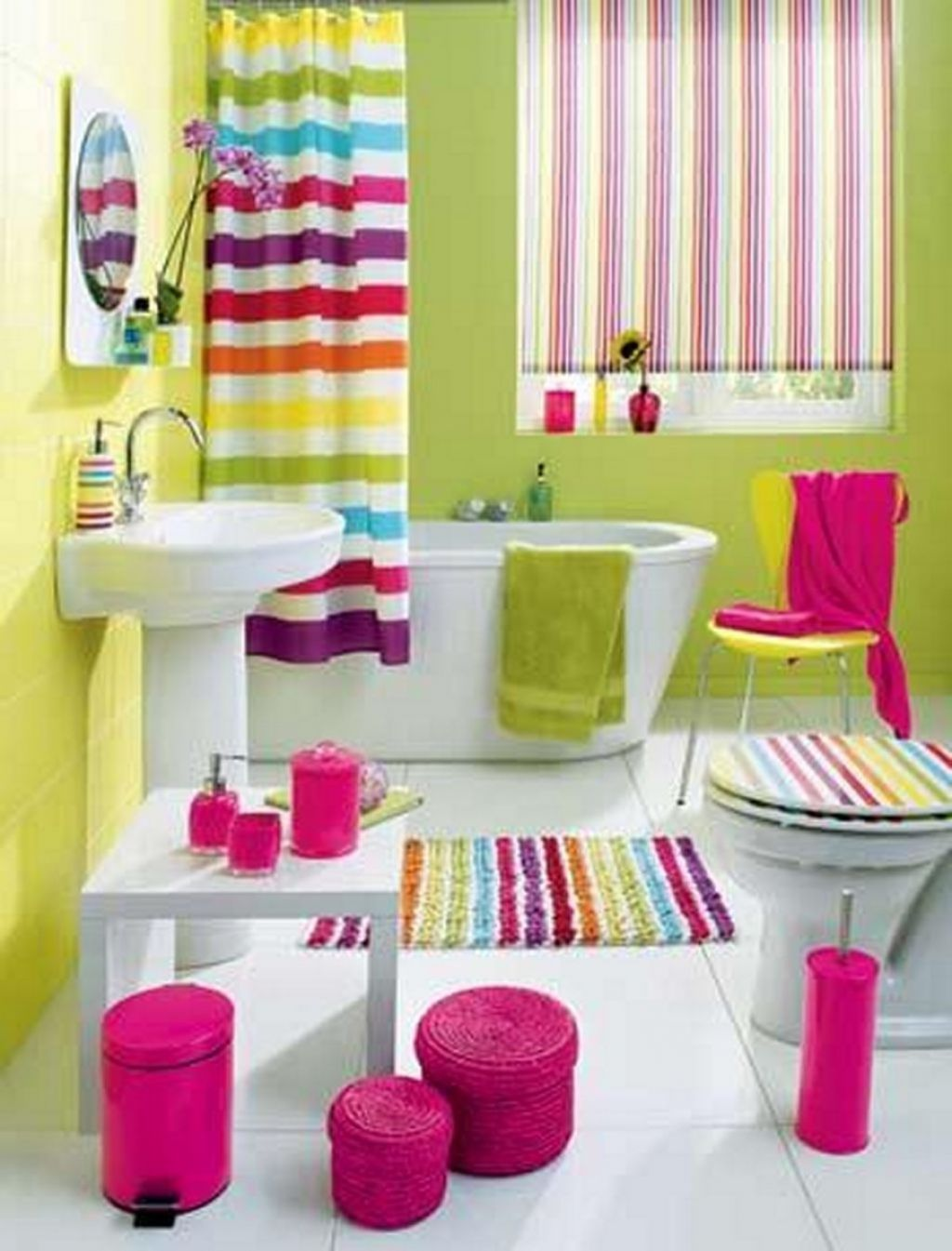 Multi Color Bathroom Ideas