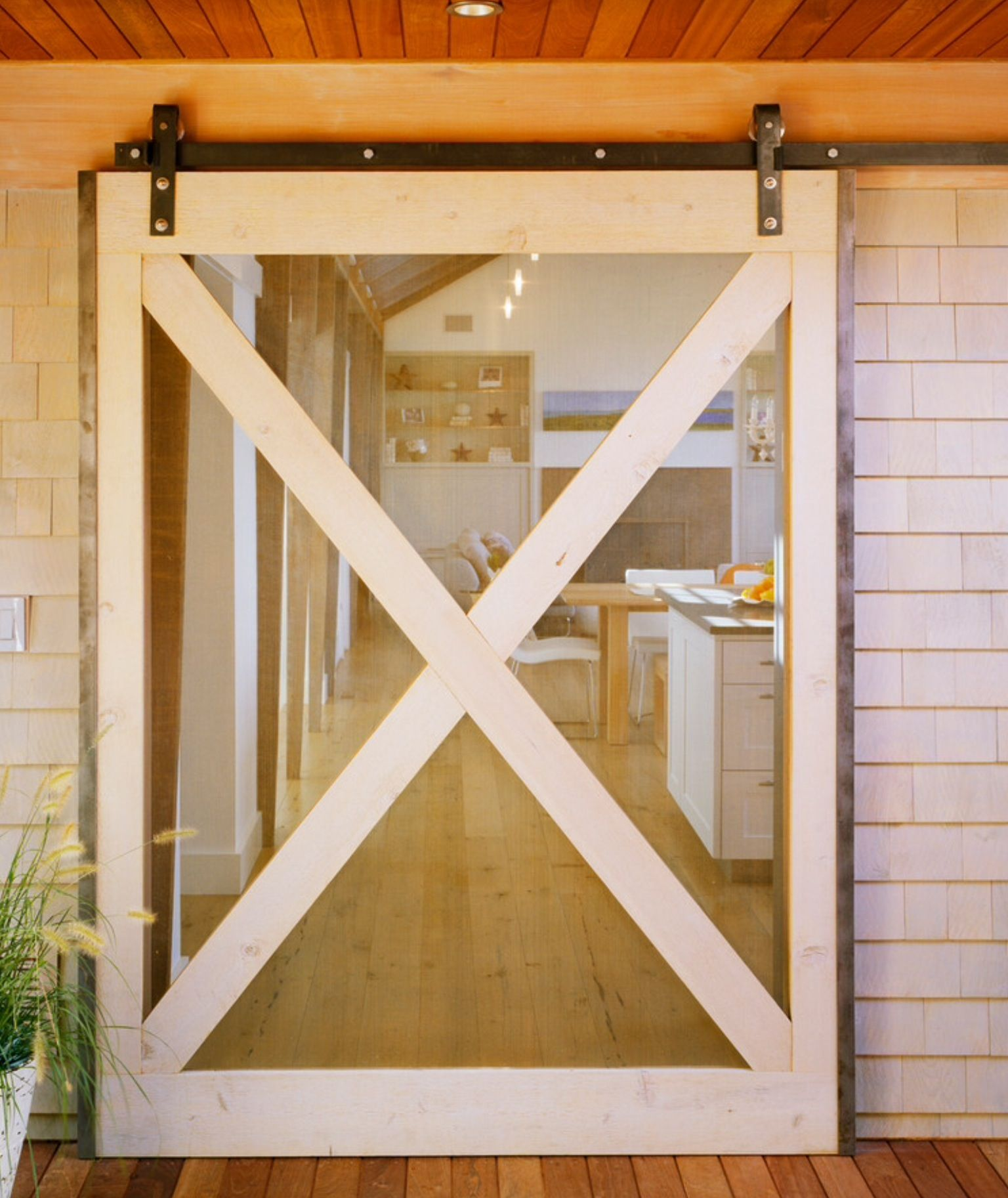 This Glass Barn Door Lets In Light And Is A New Look For A