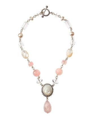 Rose Quartz-Pearl-Mother of Pearl Necklace