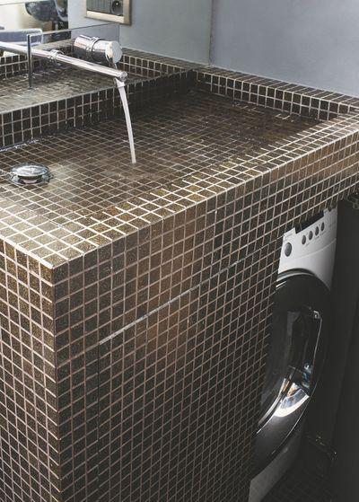 Installer lave-linge dans la salle de bains, buanderie ...
