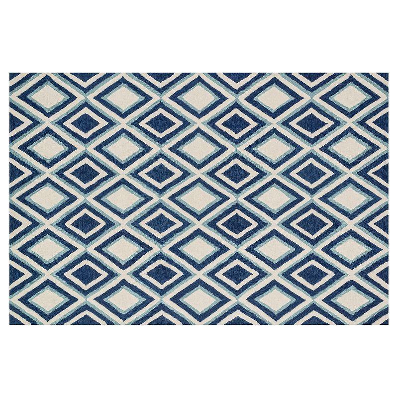 Loloi Weston Diamond Geometric Wool Rug, Blue Loloi rugs