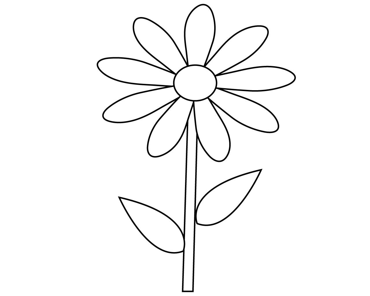 Best Simple Flower Coloring Pages To Print Flower Coloring Pages