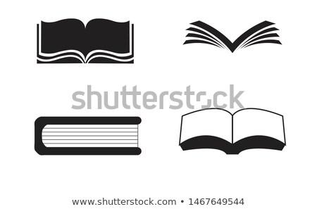 Silhoutte Books Open Book Books Vector